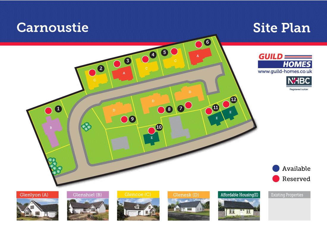 View Panbride Croft Site Plan